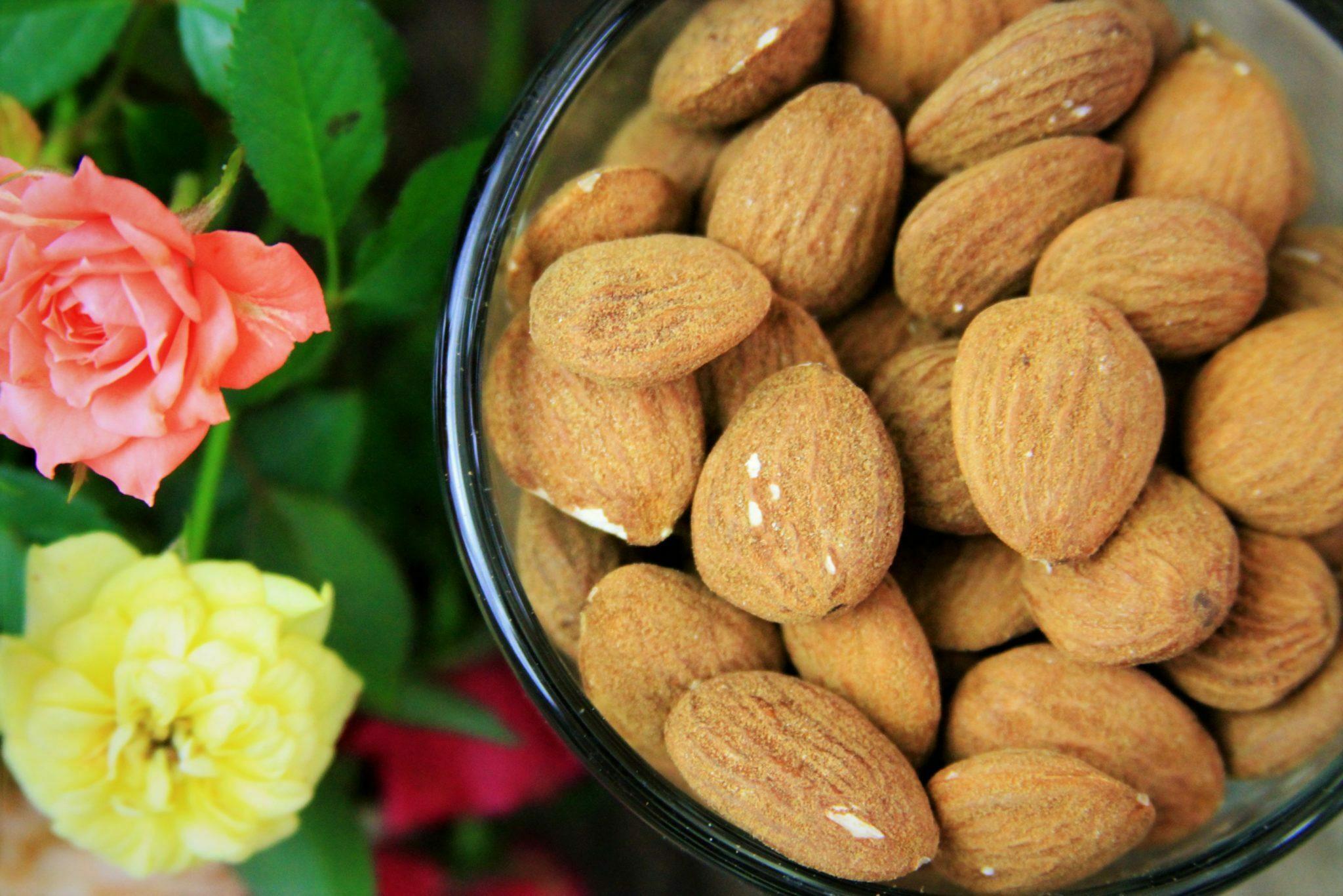 Amêndoas são ricas em vitamina E, um poderoso antioxidante