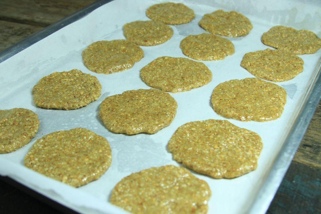 biscoito de coco e amendoim antes de ir pro forno - amor pela comida