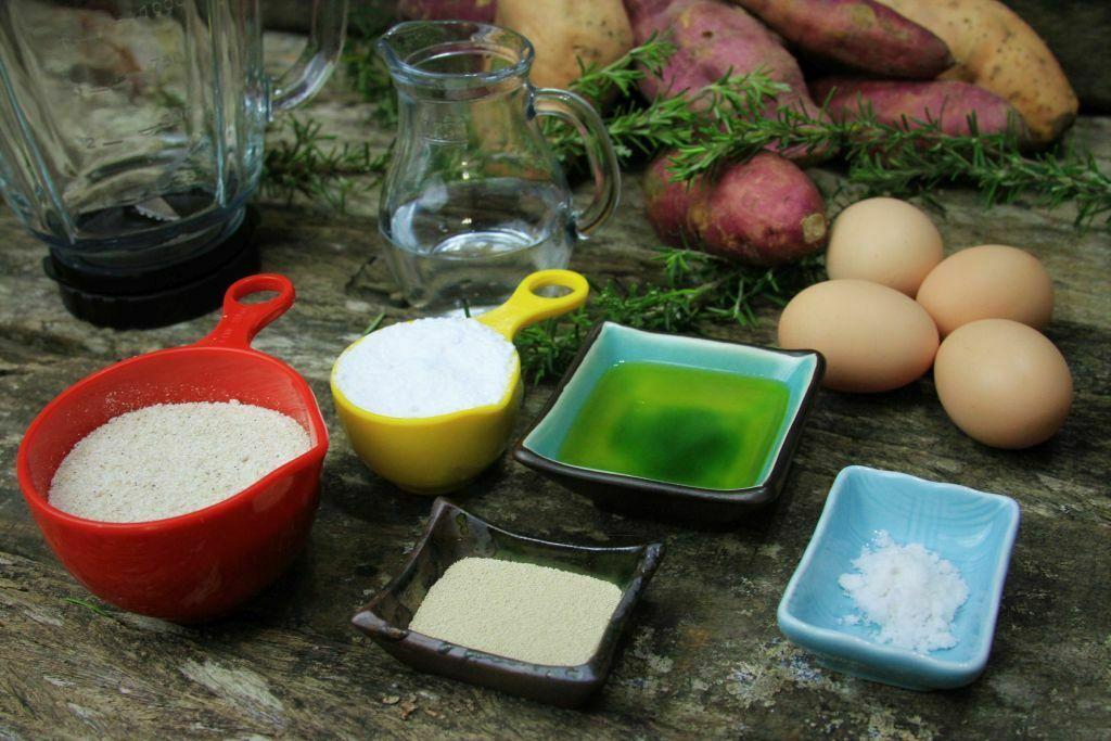 ingredientes pão de batata doce - amor pela comida