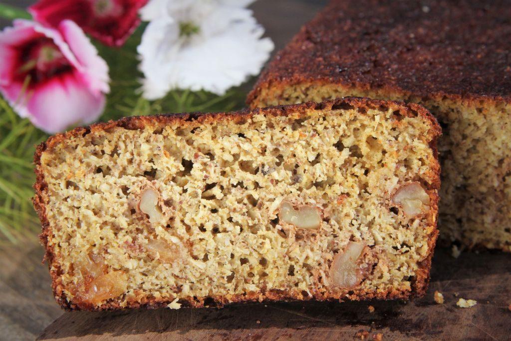 pão de cenoura textura - amor pela comida