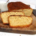Pão caseiro com grão-de-bico sem glúten e sem lactose