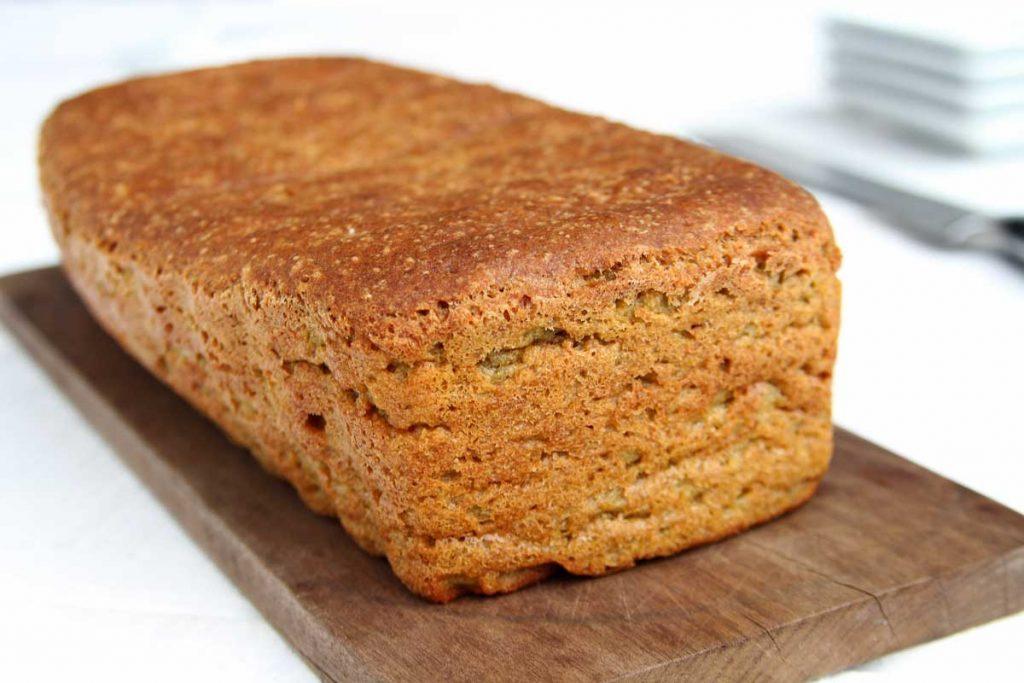 Pão caseiro com lentilha sem glúten e sem lactose