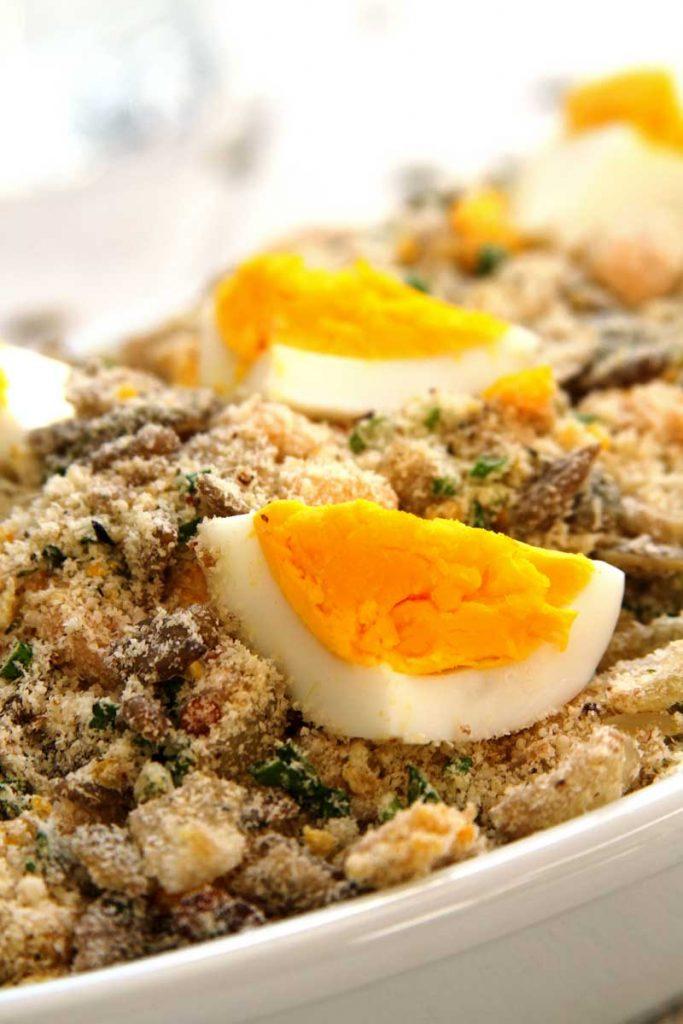 Receita de Farofa de Ovo muito fácil e deliciosa com sementes sem glúten e sem lactose