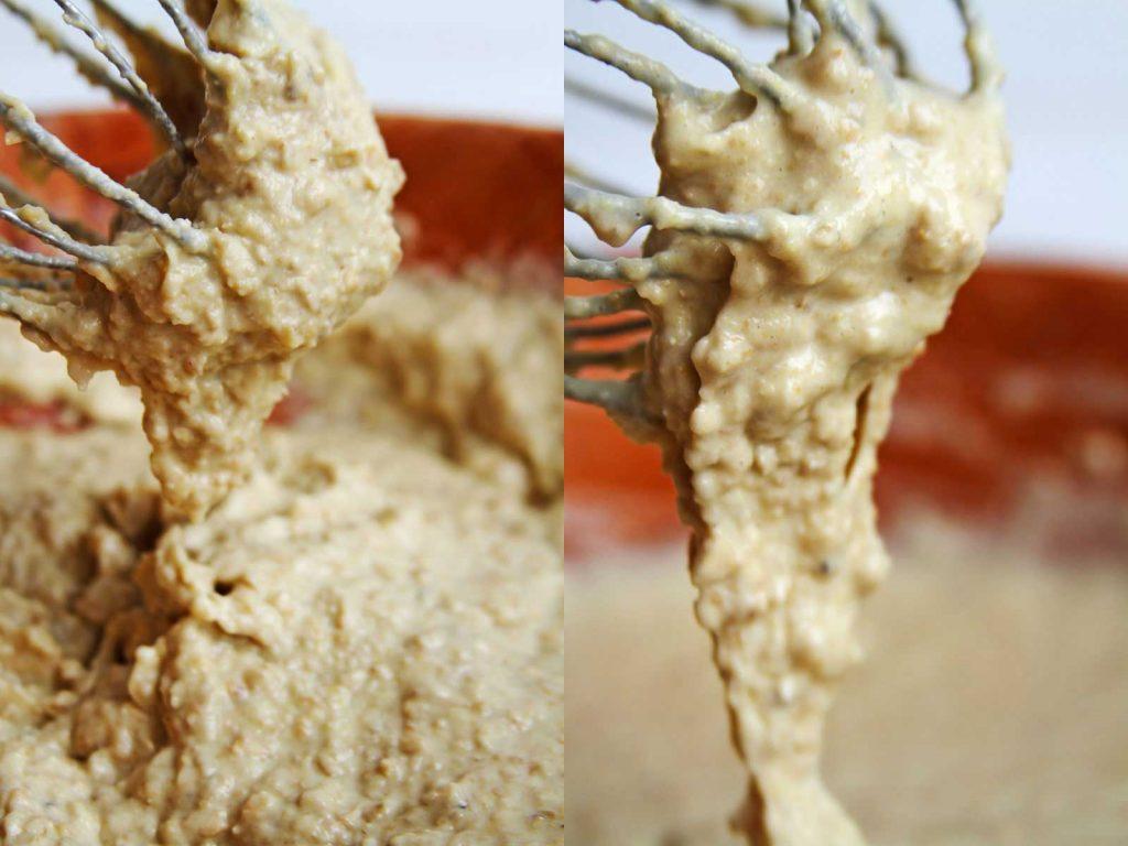 Duas fotos lado a lado textura massa de pão caseiro