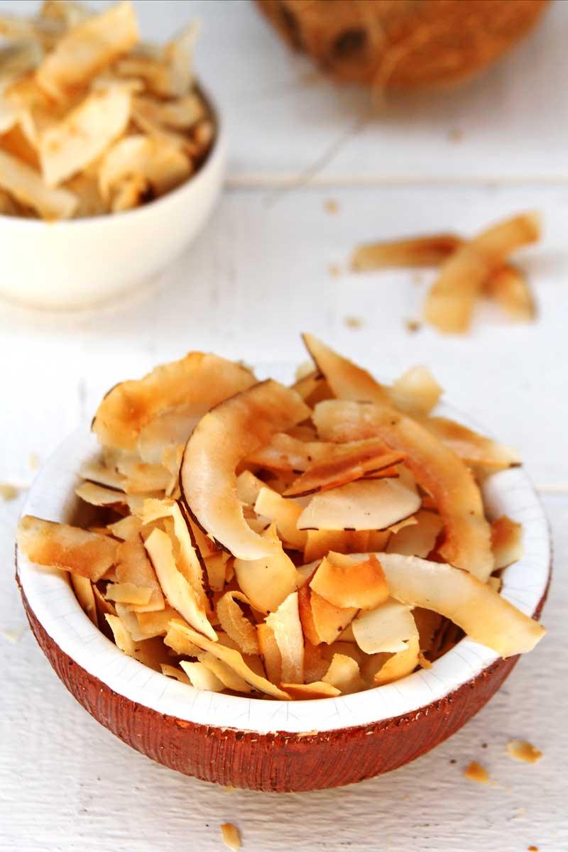 Receita Chips de Coco doce e salgado muito crocante e simples de preparar