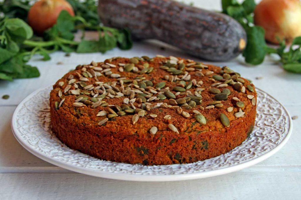 Torta Salgada Low Carb de liquidificador vegetariana muito nutritiva, sem glúten e sem lactose!