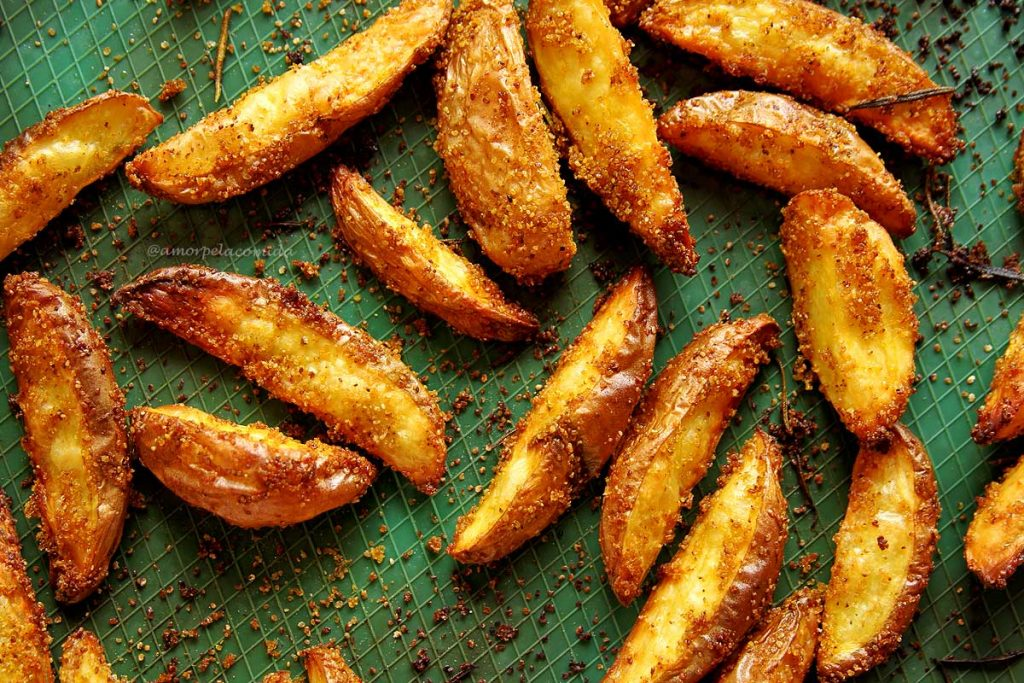 Receita de Batata frita assada no forno