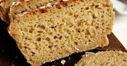 Receita de Pão de Aveia Fit sem farinha de trigo, sem leite e sem ovo. Muito simples de preparar e com 5 ingredientes