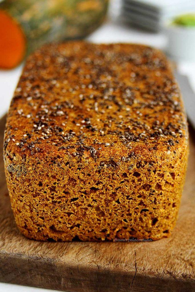 Receita de Pão Low Carb sem glúten, sem lactose, fácil de liquidificador