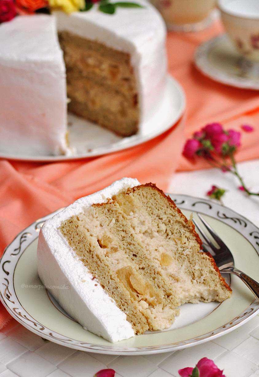 Receita de recheio de abacaxi com coco para bolo de festa e aniversário sem glúten e sem lactose
