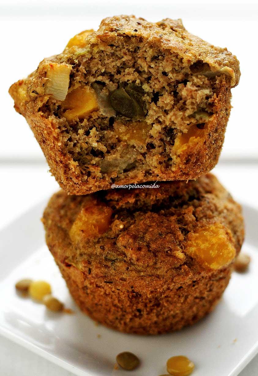 Receita de muffin salgado fit de liquidificador sem glúten e sem lactose simples de preparar!